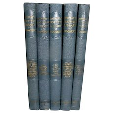 Book, Complete Set of Woman's Institute Library of Cookery, 5 Volumes, 1925