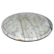 Vintage solid marble Lazy Susan