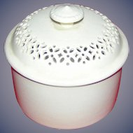 Vintage, Leedsware covered dish/pot