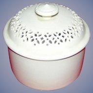 Vintage, Leedsware covered dish/pot