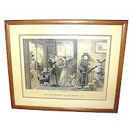 "Print Currier & Ives, ""The Four Seasons of Life: Middle Age"""