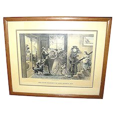 """Vintage  print, Currier & Ives, """"The Four Seasons of Life: Middle Age"""""""