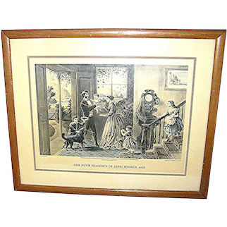 """Print Currier & Ives, """"The Four Seasons of Life: Middle Age"""""""