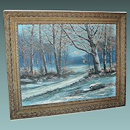 Vintage Oil Painting by Victor Shearer of a woodland scene, signed and dated 1944