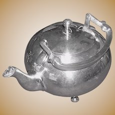 Vintage Silverplate Tea Pot in a contemporary design