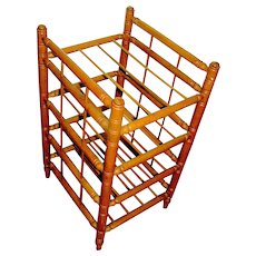 Antique Maple Pie Rack Stand circa 1900