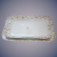 Limoges Porcelain Platters matching and marked