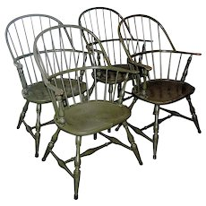 Set of Four 4 colonial revival chairs early 20th c. Local Pickup