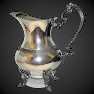 Vintage Silverplate large  pitcher by Sheridan