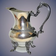 Vintage Silverplate large  pitcher by Sheridan