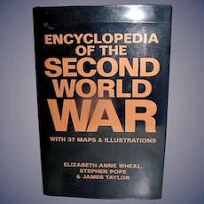 Vintage Hardback Book, Encyclopedia of the Second World War, 1989, First Edition