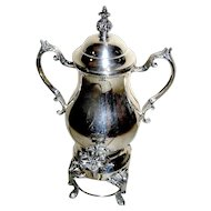 Silver-plate, footed, Samovar in the Classical style