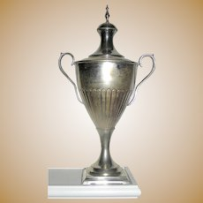 Antique Silver Plate Loving Cup Trophy Urn