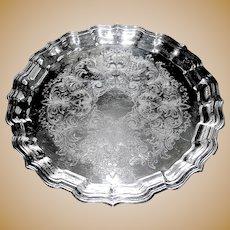 Silverplate tray: salver: butler's tray