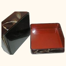 Vintage Japanese Lacquer Box circa 1930