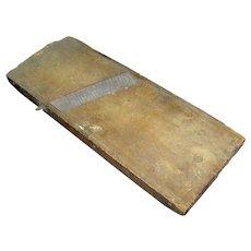 Vintage Wooden Slaw Cutter