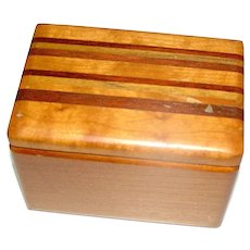 Vintage Art Deco style box in mahogany, maple, and mixed woods