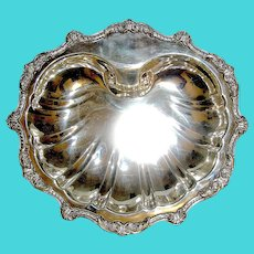 Vintage Silverplate Bowl Large Shell Motif signed Old English by Poole