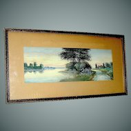 Vintage Watercolor Painting by F. Marion Dyer 1861-1941