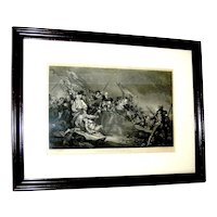 Vintage Steel Etching of a painting by John Trumbull