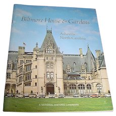 Vintage book or pamphlet Biltmore House and Garden, Biltmore Estate, 1976