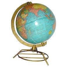 """Vintage Terrestrial Globe by Cram, 8"""""""