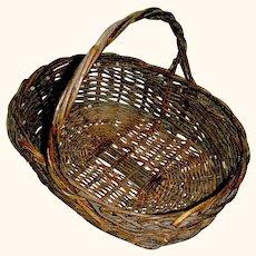 Antique Wicker Market Basket