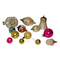 Vintage Christmas Tree Ornaments Early