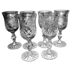 Vintage Crystal Glass Stemware