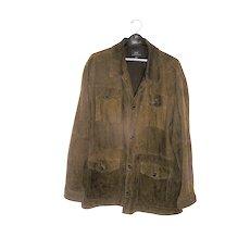 Vintage Men's Suede Coat Jacket