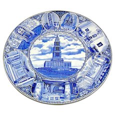Vintage Staffordshire Plate, George Washingtion Masonic National Memorial