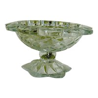Vintage Heavy Crystal Glass Compote