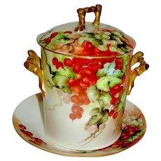 Antique Porcelain Jelly Condiment Set marked