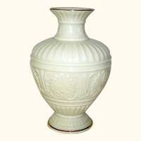 Vintage Porcelain Vase marked Lenox cream
