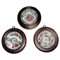 Set of Oriental Framed Chinese Plates