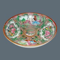 Vintage Rose Medallion small Chinese plate