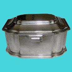 Vintage Silverplate Trinket Box lined in felt