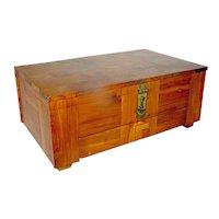 Vintage Marquetry Cedar Chest Box tabletop
