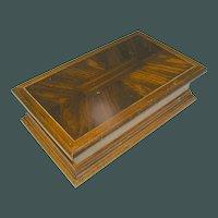 Vintage Jewelry box of Veneered Wood