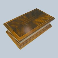 Vintage Jewelry box of Veneered Wood