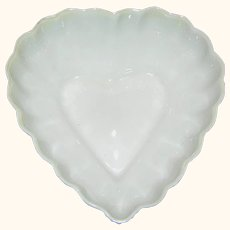 Vintage heart shaped dish signed Belleek