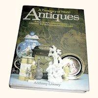 Vintage Book, Treasury of World Antiques, Hanley Publishing, 1st English edition