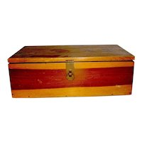 Vintage Cedar wood catchall Box