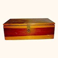 Vintage Cedar wood catchall Box