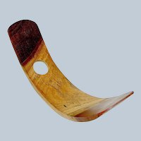 Vintage Wine Holder Aboriginal Design Wood