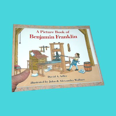 Book Childrens', Picture Book Of Benjamin Franklin