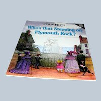 Vintage Book, soft cover, Who's That Stepping on Plymouth Rock, Jean Fritz, Penquin, 1975