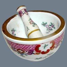Antique Porcelain Mortar and Pestle