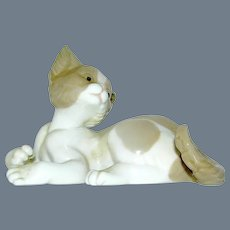 Porcelain Figurine of Kitten signed LLadro No 5114