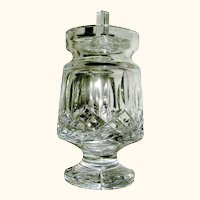 Cut Glass Waterford Jam Jelly Jar